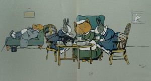 """""""Cecil Aldin's merry party"""", texte de May Byron, London, H. Frowde, 1913."""
